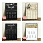 Personalised Wedding Seating/table Plan- 48 Designs-4 Size Options