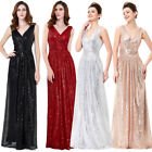 Women's Sleeveless Deep-V Neck Long Evening Prom Gown Bridesmaid Dress