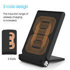 3 Coils Qi Fast Wireless Charging Charger Stand Holder For iPhone X 8/ 8 Plus