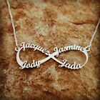 infinity necklace family names child mother necklace forever sterling silver 4