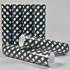 Black and White Gingham Diamond Check Plaid Candle Covers / Socket Sleeves Set