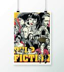 Pulp-Fiction by Joshua Budich WALL ART POSTER   SIZES A4 to A0    E248
