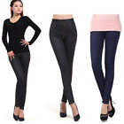 Women Ladies Winter Warm Leggings Stretch Thick Skinny Pants Trousers Footless
