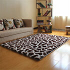 New Long Plush Soft Leopard-print Living Room Bedroom Floor Mats Area Rug Carpet