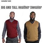 Big and Tall Blue Ocean Heather Sweater Vest (SV-280BM)