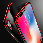 For Iphone X 8 Plus Case Plating TPU Silicone Soft Shockproof Bumper Cover
