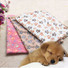 Внешний вид - Pet Dogs Paw Print Blanket Cushion Puppy Cats Fleece Soft Warm Sleeping Mat Bed