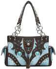 Conchos Fringe Arrow Words Concealed Carry Purse Western Women Country Handbags
