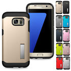 Luxury Shockproof Rubber Armor with Stand Case For Samsung Galaxy S7 / S7 Edge
