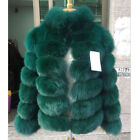 Fashion Genuine Whole Skin Fox Fur Coat For Women Thick Real Fur Jacket Outwear