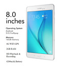 New Samsung Tab A 8.0 Inch 4G GPS WIFI Android 5.0 Tablet PC Unlocked - 16GB