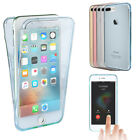 Clear 360°Full Body Cover Shockproof Rubber TPU Phone Case Bag For iPhone X 8 7