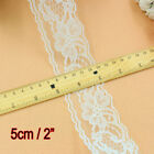 "2"" Floral Lace Ribbon Craft Sewing Embroidered Vintage Trimming Edge Scalloped"