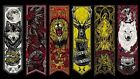 GAME OF THRONES SILK CLOTH HOUSE BANNER POSTER  SIZES A4 to A0 UK SELLER E182