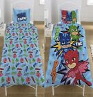 Kids PJ Masks Ready For Action Reversible Single Rotary Pillow Cover Bed Set