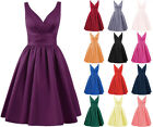 Cheap Satin Formal Short Prom Party Cocktail Gown Evening Bridesmaid Dresses