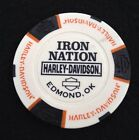 Edmond, Oklahoma Iron Nation Harley Dsvidson Poker Chip / White & Black