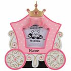 Personalized Princess Carriage Photo Frame Christmas Ornament