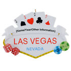 MAXORA Gambling in Las Vegas Personalized Ornament With Gift Box
