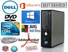 CLEARANCE Fast Dell Optiplex Desktop PC Computer Core 2 Duo Windows DVD