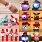 LED Light Glow Xmas Slap Circle Bracelet Wrist band Christmas Dazzling Toy GOG