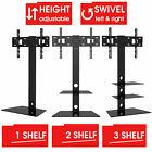 Mountright Glass Cantilever TV stand with bracket 32 to 55-inch All Black