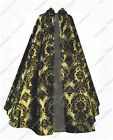Steampunk Gothic Victorian Renaissance Medieval Hooded Patterned Cape Cloak