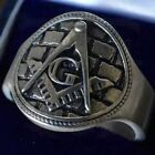 """""""The Master's Pavement"""" Masonic Ring, Sterling Silver"""