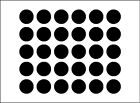 """(300) 1"""" Polka Dot Decals -  Peel and Stick Circle Wall Decals All Use"""