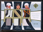 2009-10 ULTIMATE TRIPLE WAYNE GRATZKY MARIO LEMIEUX MARK MESSIER GU PATCH 10/10