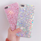 Luxury Bling Sparkle Glitter Sequins Soft Gel Case Cover For iPhone X 6 7 8 Plus