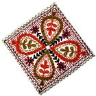 "Suzani Embroidered Work Cushion Cover 16"" Indian Pillow Cover Decor U3AC131"