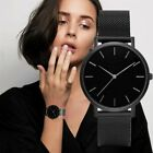 New Fashion Geneva Women Leather Band Stainless Steel Quartz Analog Wrist Watch image
