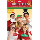"Amscan Festive Christmas Photo Prop Kit 13 Piece Multicolor 8 2"" X 14"""