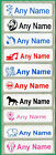 100 Printed iron on Name Tags tapes Custom Labels School clothes personalised
