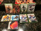 LOT OF 9 X BOX 360 GAMES HALO 2 CALL OF DUTY 2 & 4 MLB LIVE TIGER WOODS MORE WOW