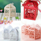10/50/100Pc Wedding Party DECOR Favours Candy Casual Love Bird Cage USEFUL Boxes