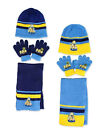 Kids Minions Scarf, Hat & Gloves Set Age 4 to 8Yrs Available in 2 Colours