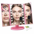 Makeup Mirror Trifold Touch Screen Vanity Mirror w/21 LED Lights Lights Christma