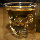 Distinctive Double wall Skull glazing Beer Stein Glass juice Cup  Drinking