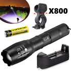 12000LM 5 Modes XM-L T6 Adjustable 18650 LED Zoom Flashlight Torch &Charger