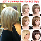 Popular Modern Women's Boycut Pixie Full Wig Real Heat Resistant Brown Blonde CY