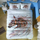 Twin Full Queen King Bed Set Pillowcase Quilt Cover oauL Colorful Horse mzm