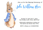 personalised party invitations NAMING CEREMONY PETER RABBIT BEATRIX POTTER #2
