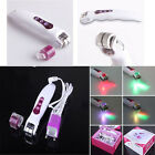 Galvanic Vibrating LED Microneedle Derma Roller Photon Light Skin Care Recovery