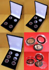 Case for 4, 5 or 6 Full Sovereigns / £1 Round coins in Ring Type Coin Capsules
