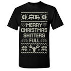 Merry Christmas Shtters Full Men's T-shirt Funny Ugly Sweater Tee