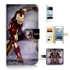 ( For iPod Touch 5 ) Wallet Case Cover P21174 Ironman Iron Man