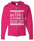 Mimi Nice Lists Christmas Shirts - Zip Hoodie