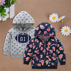 Baby Boys Girls Cotton Hoodie Sweater Floral Sweatshirt Coat For 9-24 Months